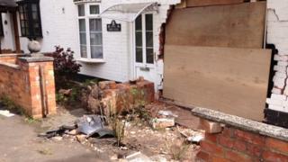 Cottage after crash