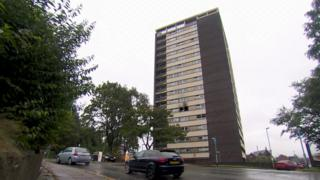 Mardyke tower block in Rochdale