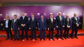 Zajednička slika lidera, bez Hašima Tačija i Ane Brnabić