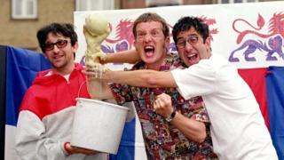 Ian Broudie, Frank Skinner and David Baddiel in 1998