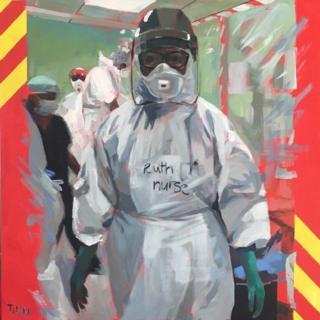 Painting of NHS heroes by Lisa Timmerman