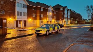 Northern Ireland Antrim Road crime scene