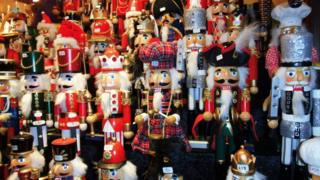 Drummer decorations at Edinburgh Christmas market