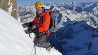 British mountaineer Mick Fowler