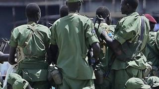 Soldiers loyal to Riek Machar in Juba, South Sudan