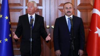 Avrupa Konseyi Başkanı Thorbjorn Jagland ve Dışişleri Bakanı Mevlüt Çavuşoğlu