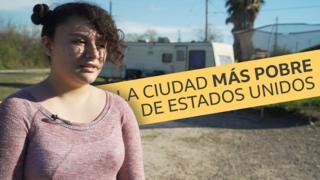 Una joven residente de Escobares.