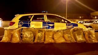 The drugs were found near Draperstown