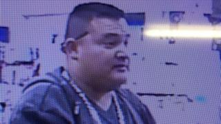 Gustavo Perez Arriaga, caught by a surveillance camera
