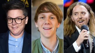 Comedians Hannah Gadsby, Josh Thomas and Tim Minchin