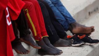 Undocumented migrants in Spain (file image)