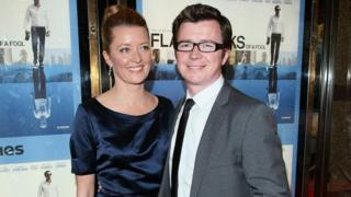 Rick Astley and his wife Lene Bausager