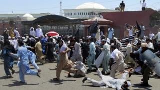 پشاور، احتجاج