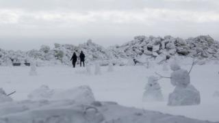 ледени зид у Зеленогорску