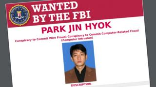 FBI wanted poseter for Park Jin-hyok