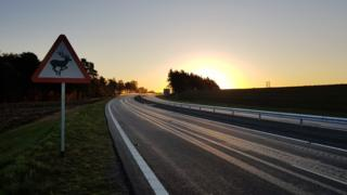 Sunrise over the western section of the NDR