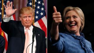 Clinton waxay boqolkiiba 4 dhibcood ka horraysaa Trump