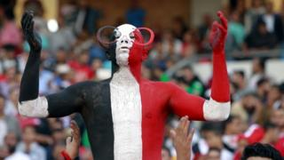 Egyptian Fans prior the 2018 FIFA World Cup qualifying soccer match between Egypt and Ghana at Borg Al Arab Stadium in Alexandria, Egypt, 13 November 2016