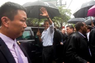 US President Barack Obama in Vietnam