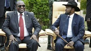 Dkt Riek Machar na Rais Salva Kiir