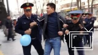 Задержание участников протестов в Казахстане