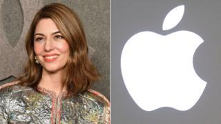 Sofia Coppola y logo de Apple