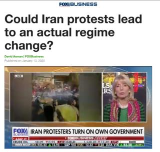 اسکرین شات از برنامه فاکس نیوز درباره ایران