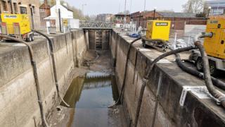 Empty Gloucester Lock
