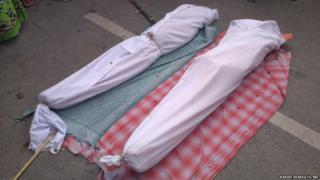 मृतक बच्चों के शव को राष्ट्रीय राजमार्ग पर रख किया गया प्रदर्शन