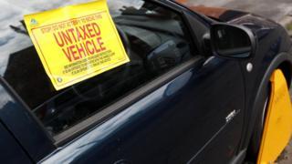Untaxed car