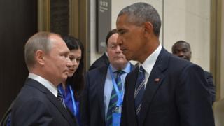 باراک اوباما و ولادیمیر پوتین