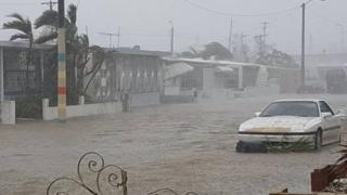 Huracán María provoca inundaciones en San Juan, Puerto Rico.