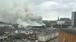 Fire in Newport