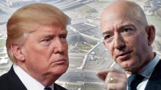 Trump and Bezos