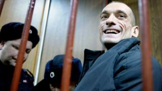 Pyotr Pavlensky in court, 26 Feb 16