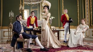 Tom Bateman, Charlie Rowe, Olivia Cooke, Johnny Flynn and Claudia Jessie in Vanity Fair