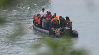 Migrant boat off St Margaret's Bay
