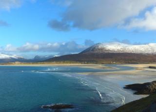 Seilebost beach looking over to Luskentyre on Harris