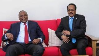 Madaxweyne Uhuru Kenyatta iyo Madaxweyne Maxamad Cabdullahi Farmajo