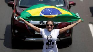 A Bolsonaro supporter in Brasilia