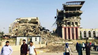 Prédio da reitoria da Universidade de Mossul