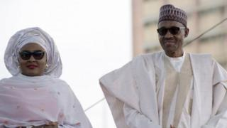 Aisha Buhari (left) and Muhammadu Buhari. Photo: May 2015