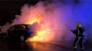 The car fire