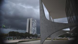 A Praça dos Três Poderes, em Brasília