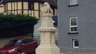 The war memorial in Brookeborough