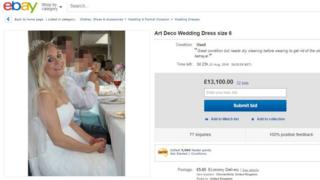 Samantha Wragg's eBay advert