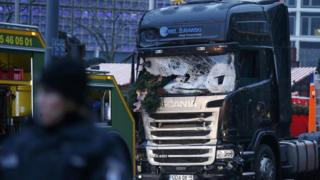 Truck used in Berlin Christmas market attack