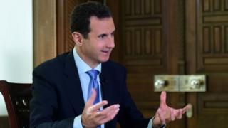 シリアのアサド大統領(先月15日)