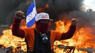 Oposición se manifiesta en Honduras.