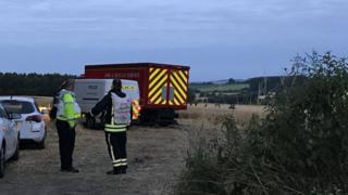 Crash site, Marlborough, Wiltshire